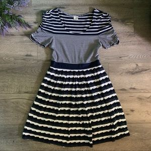 Blue Striped Dress By One September